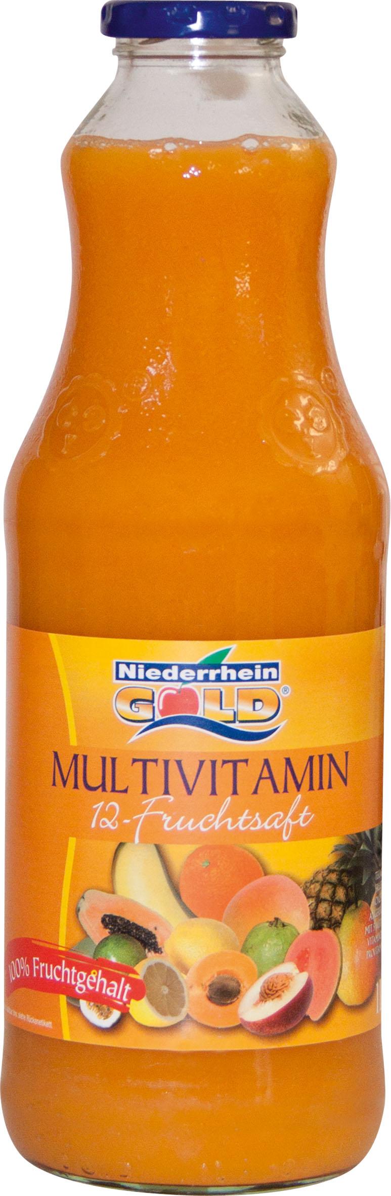 Niederrhein-Gold Multivitamin 12-Fruchtsaft