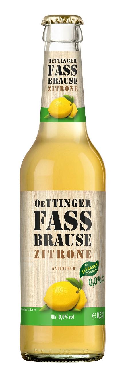 Oettinger Fassbrause Zitrone naturtrüb