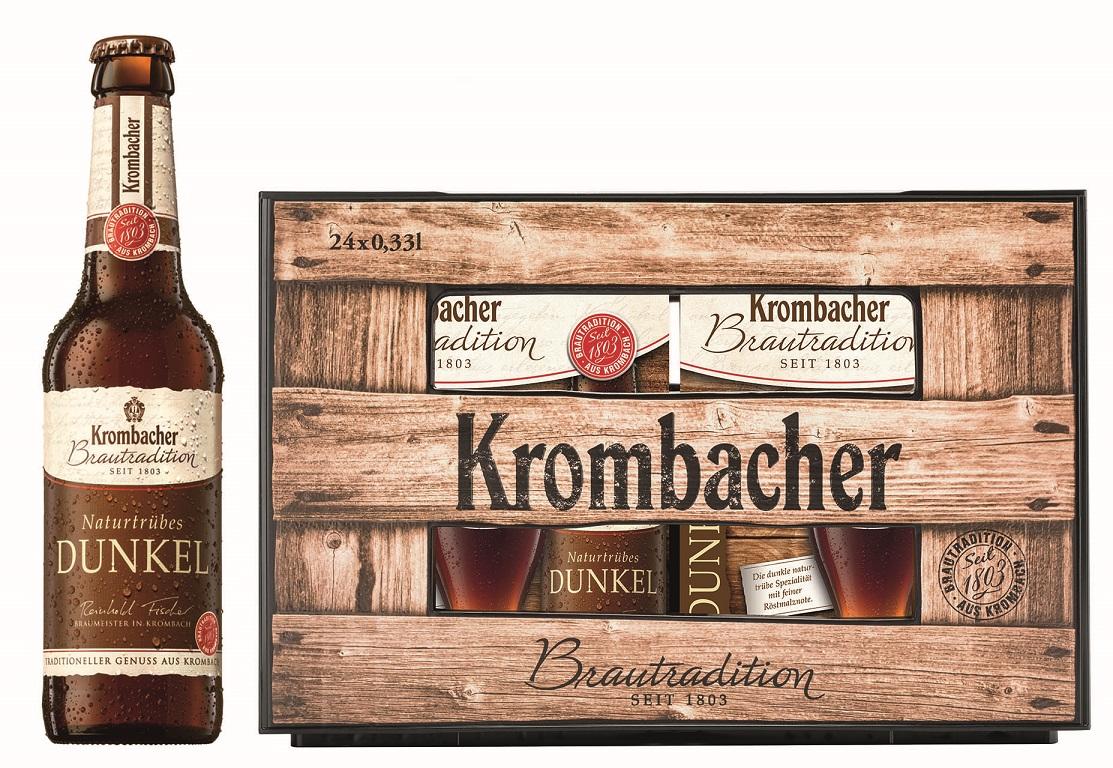 Krombacher Brautradition Naturtrübes Dunkel 6er
